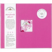 "D-ring Storybook Album 12""x12"" Doodlebug - Pink Bubble Gum"