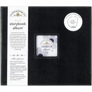 "D-ring Storybook Album 12""x12"" Doodlebug - Beetle Black"
