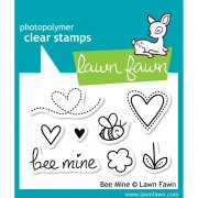 "Clear Stamps 3""X2"" - Lawn Fawn - Bee Mine"
