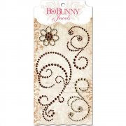 Rhinestones Jewel Swirls - BoBunny - Chocolate