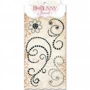 Rhinestones Jewel Swirls - BoBunny - Black Licorice