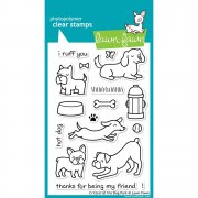 "Clear Stamps 4""X6"" - Lawn Fawn - Critters At The Dog Park"