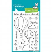 "Clear Stamps 4""X6"" - Lawn Fawn - Blue Skies"