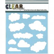 "Schablon - Clear Scraps 6""x6"" - Clouds"