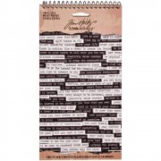 Tim Holtz Idea-Ology Spiral Bound Sticker Book - Small Talk