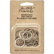 Tim Holtz Metallringar Mini 20 mm - 18 st - Idea-Ology Mini Book Rings
