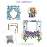 Mini Try'folds Stamps - Art Impressions - Garden Window