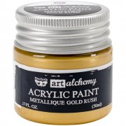 Finnabair Alchemy Acrylic Paint - Metallique Gold Rush