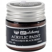 Finnabair Alchemy Acrylic Paint - Metallique Black Berry