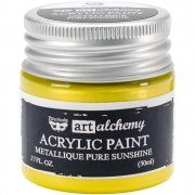 Finnabair Alchemy Acrylic Paint - Metallique Pure Sunshine
