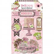 Chipboard Stickers med glitter - Bo Bunny - Sweet Moments