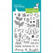 "Clear Stamps 4""X6"" - Lawn Fawn - Cheery Christmas"