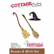 Die CottageCutz - Brooms & Witch Hat