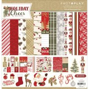 "Paper Pad 12""x12"" Photo Play - Holiday Cheer, Prints"