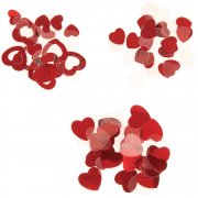 Darice Konfetti - Red Hearts - 24 g