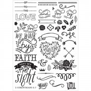 "Cling Rubber Stamp 5""x7"" Prima - Elements"