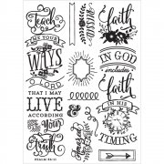 "Cling Rubber Stamp 5""x7"" Prima - Quote"