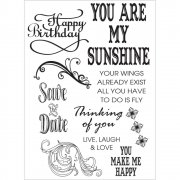 Clear Stamps - Ultimate Crafts - Sunshine Flourishes