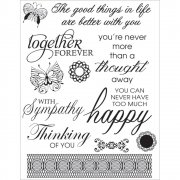 Clear Stamps - Ultimate Crafts - Happy Lives