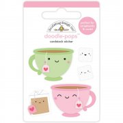 3D Stickers - Cream & Sugar Tea For Two - Doodlebug