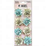 Blommor 49 and Market - Vintage Shades Blossoms - Blue