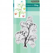 Cling Stamp Penny Black - Blooming Hearts