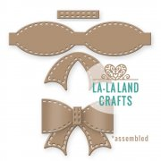 "La-La Land Die - Stitched Bow - 2.75""X2.75"""