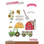 Stamp And Die Set - CottageCutz - On The Farm