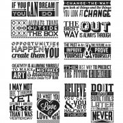 "Tim Holtz Cling Stamps 7""X8.5"" - Mini Motivation"