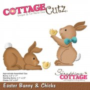 CottageCutz Elites Die - Easter Bunny & Chicks