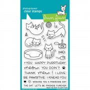 "Clear Stamps 4""X6"" - Lawn Fawn - Meow You Doin'"