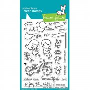 "Clear Stamps 4""X6"" - Lawn Fawn - Bicycle Built For You"