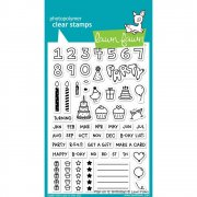 "Clear Stamps 4""X6"" - Lawn Fawn - Plan On It: Birthday"
