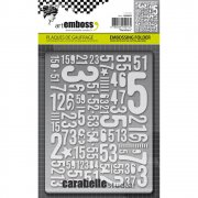 Embossing Folder - Carabelle Studio - Numbers
