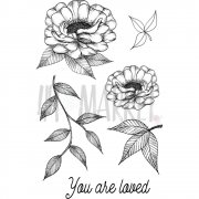 Clearstamps 49 and Market - Valerie's You Are Loved