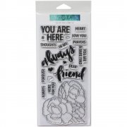 "Utgår! Clear Stamps 4""X8"" - Concord & 9th - You Are Here"