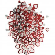 Konfetti - Red Foil Hearts - 14 g