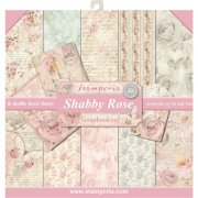 "Paper Pad 12""x12"" - Stamperia - Shabby Rose"