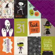 "Papper Echo Park - Halloween Town - 3""X4"" Journaling Cards"