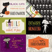 "Papper Echo Park - Halloween Town - 4""X6"" Journaling Cards"