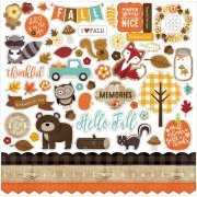 "Stickers 12""x12"" - Echo Park - A Perfekt Autumn"
