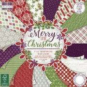 "Paper Pad 12""x12"" - Merry Little Christmas by First Edition - 48 ark"