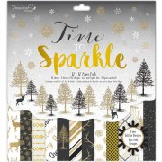 "Paper Pad 12""x12"" - Time To Sparkle by Dovecraft - 36 ark"