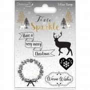 Clearstamps Dovecraft - Time To Sparkle - wreath