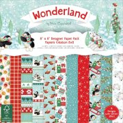 "Paper Pad 8""x8"" - Helz Cuppleditch Wonderland - 48 ark"