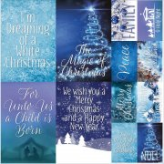 "Stickers 12""x12"" Ella & Viv - Blue Christmas Posters"