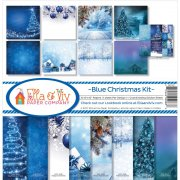 Paper Kit 12x12 - Ella & Viv - Blue Christmas