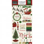 Twas The Night Before Christmas - Chipboard Accents- Echo Park