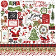 "A Perfect Christmas - Stickers 12""x12"" - Echo Park"