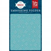 A Perfect Winter - Embossing Folder Frosty Snowflakes - Echo Park